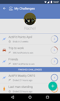 Screenshot of ActiFit Pedometer Challenges