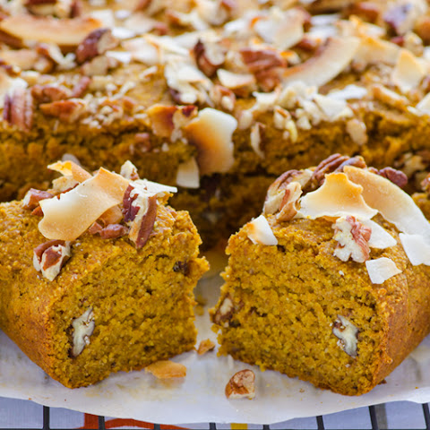 Vegan Pumpkin, Pecan & Coconut Snack Bread