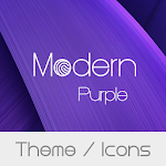 Modern Purple Theme + Icons file APK Free for PC, smart TV Download