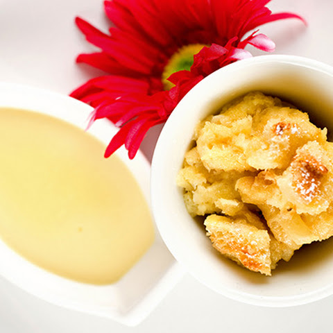 Pineapple Bread Pudding with Lemon Custard Sauce