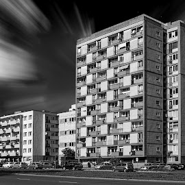 Earth moving  by Ciddi Biri - Buildings & Architecture Other Exteriors ( mimari, building, sky, monochrome, black and white, gökyüzü, siyahbeyaz, black & white, om-d e-m10, m43turkiye, bina, architecture, city )