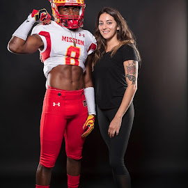 Chris and Katelyn by Robert Govier - Sports & Fitness American and Canadian football