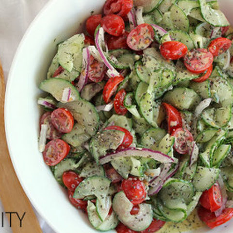 Cucumber Salad with Dill Dressing