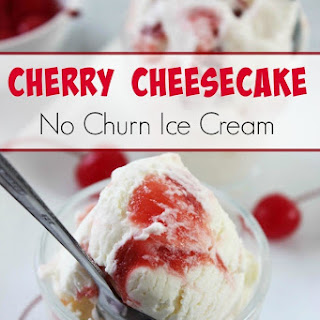 No Churn Cherry Cheesecake Ice Cream