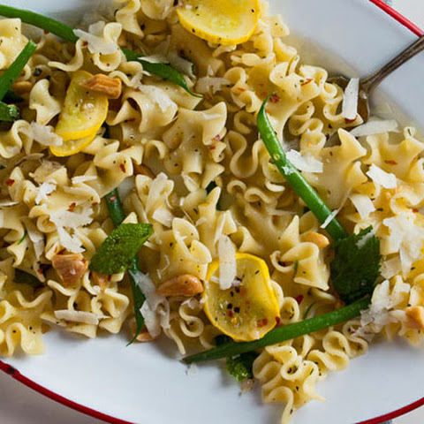 Pasta Salad with Haricots Verts, Zucchini and Almonds