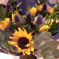 Sunflower hand tied bouquet - The Florist Tunbridge Wells