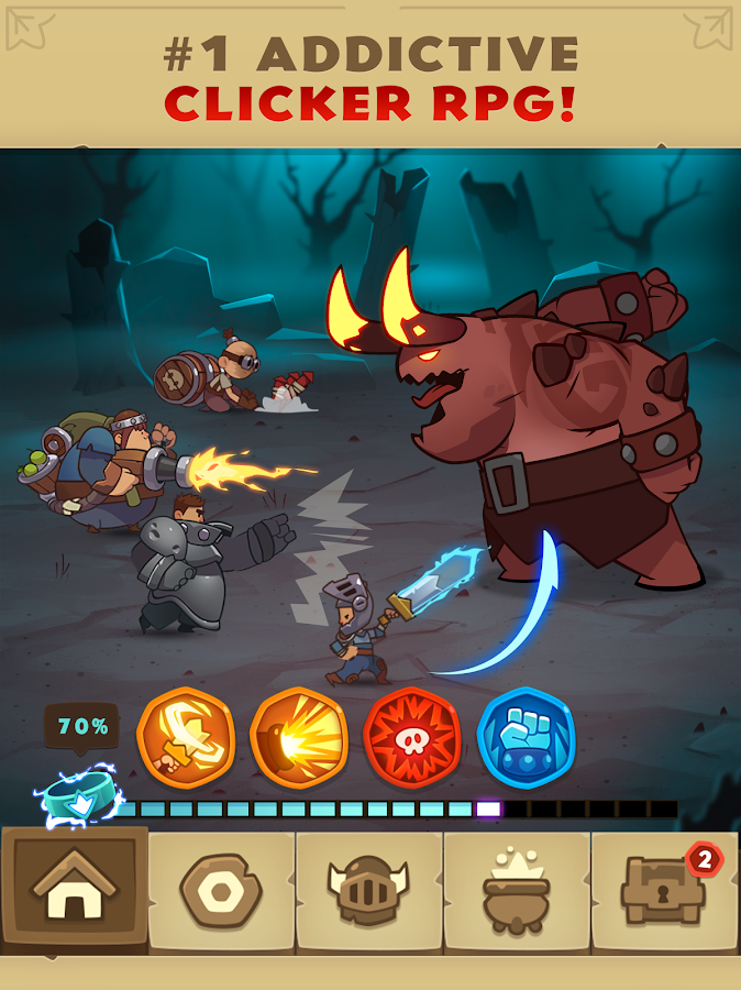 Almost a Hero - RPG Clicker Game with Upgrades Screenshot 14