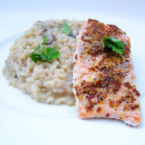 Salmon And Risotto For Dinner