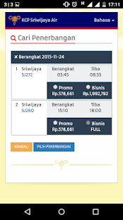 Sriwijaya Air - Flight Ticket - screenshot