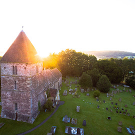 Rest in peace by Dimitar Lazarov - Buildings & Architecture Public & Historical ( england, drone, church, peace, rest, in )
