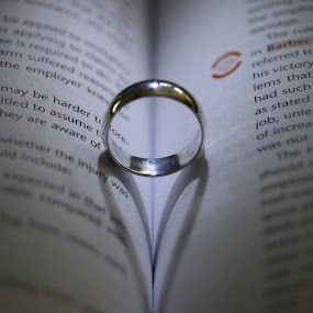 by Kev Bates - Artistic Objects Jewelry ( ring, heart, shadow, wedding, silver, marriage )