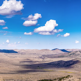 Glass Mountains by Timothy Hess - Landscapes Deserts ( clouds, mountains, desert, glass mountains, marathon, skies )