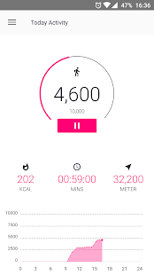 Pedometer For Walking Free Fitness app screenshot for Android