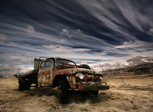Corrosion by Þorsteinn H. Ingibergsson - Transportation Automobiles ( clouds, iceland, sky, nature, structor, rusty, landscape, old truck, abandoned )