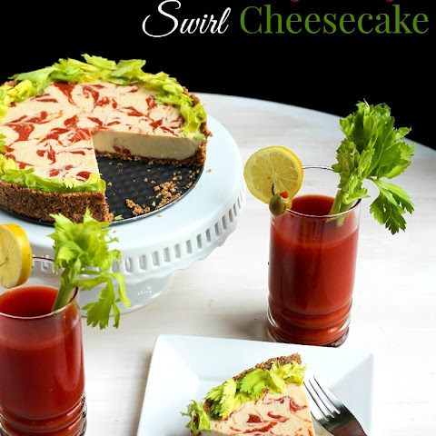 Virgin Bloody Mary Swirl Cheesecake