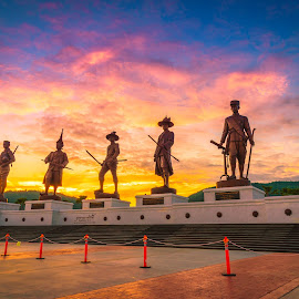 Ratchapak Park, HUA HIN,THAILAND by Nuttawut Uttamaharach - Buildings & Architecture Statues & Monuments ( stop, famous, ratchapak, god, repeal, horse, thailand, thai, hua, hin, travel, kings, believe, king, army, bangkok, religion, chulalongkorn, grand, leader, monument, symbol, park, faith, art, traditional, vacations, powerful, history, sculpture, tourist, statue, seven, recant, royal, spirit, clever, abolish, respect, culture, rama )