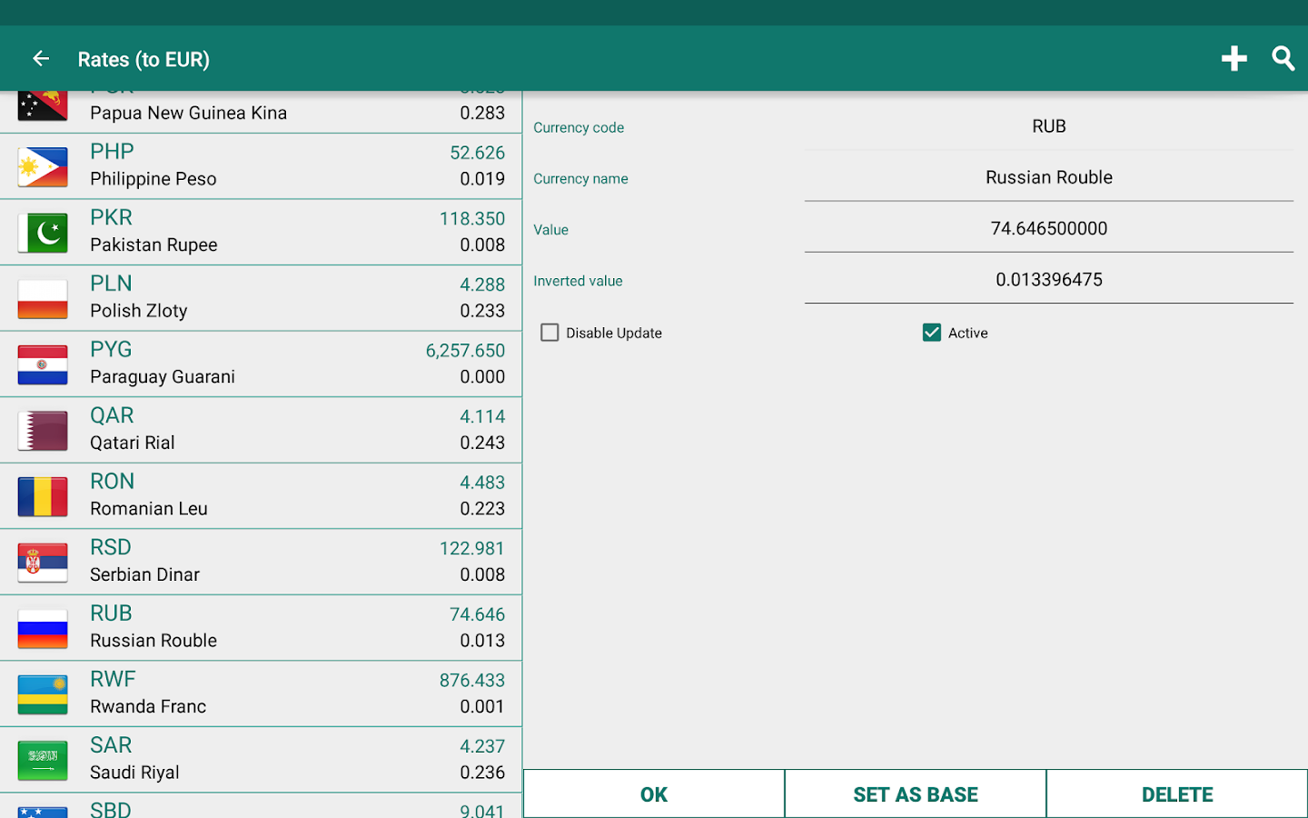 Currency Converter Plus Screenshot 12