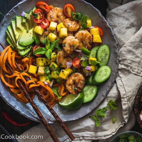 Shrimp Salad Bowl with Mango Salsa