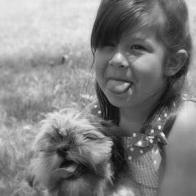 Love my puppy by Tashina Azure - Babies & Children Children Candids