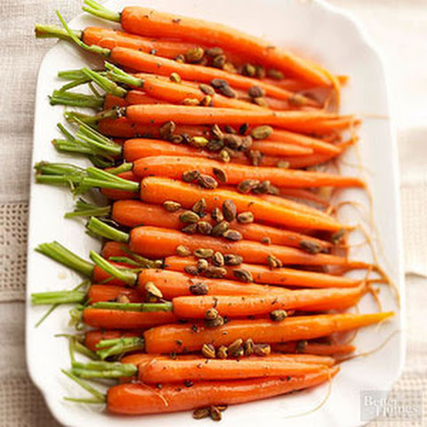 Glazed Carrots With Cayenne Recipe — Dishmaps