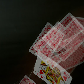 Queen of Hearts by John Puddy - Artistic Objects Other Objects ( hearts, queen, movement, playing cards, cards )
