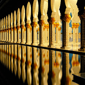 Columns Reflection by Jbern Eugenio - Buildings & Architecture Architectural Detail ( pwcarcreflections )