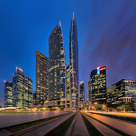 Marina One by Gordon Koh - City,  Street & Park  Vistas