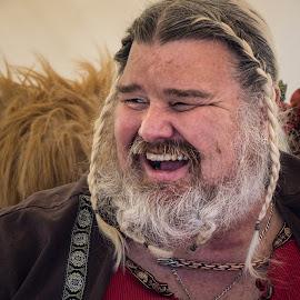 Celtic by Eva Ryan - People Portraits of Men ( oklahoma, braid, male, beard, festival, big, teeth, man,  )