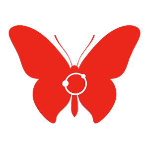 Red Butterfly Icon Pack