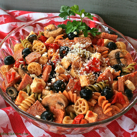 Pepperoni Pizza Pasta Salad with Summer Sausage