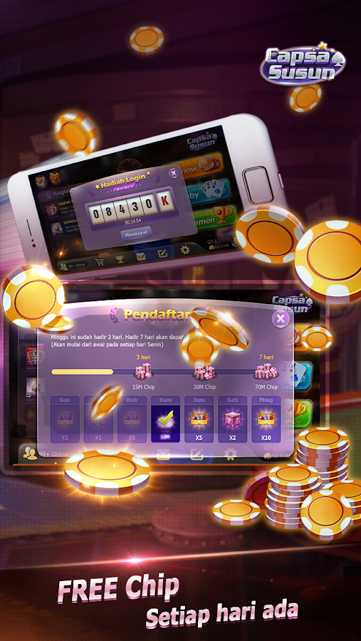 Capsa Susun(Free Poker Casino) Screenshot 11