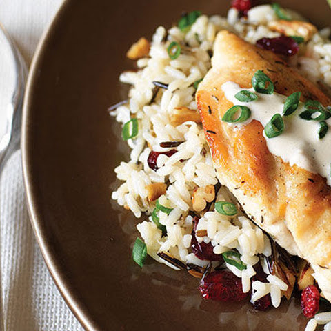 Creamy Chicken & Cranberry-Pecan Wild Rice