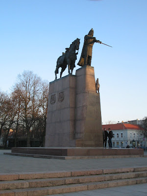 Памятник Великому Князю Литовскому Гедиминасу в Вильнюсе
