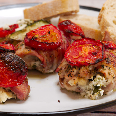 Chicken Thighs Stuffed with Goat Cheese and Herbs