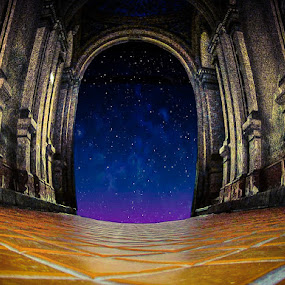 Star Gate by Zeljko Secujski - Digital Art Places ( serbia, sombor, stars, nightsky, stargate, pass )