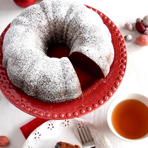 Ginger Bundt Cake with Chocolate Nutmeg Ganache Glaze Recipe | Yummly