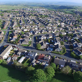 Aerial photo by Marc Smith - City,  Street & Park  Neighborhoods ( aerial photo, bradford, queensbury )