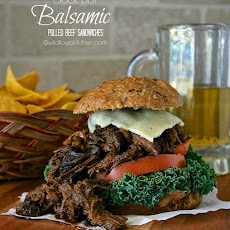 Crock Pot Balsamic Pulled Beef | The Secret Recipe Club