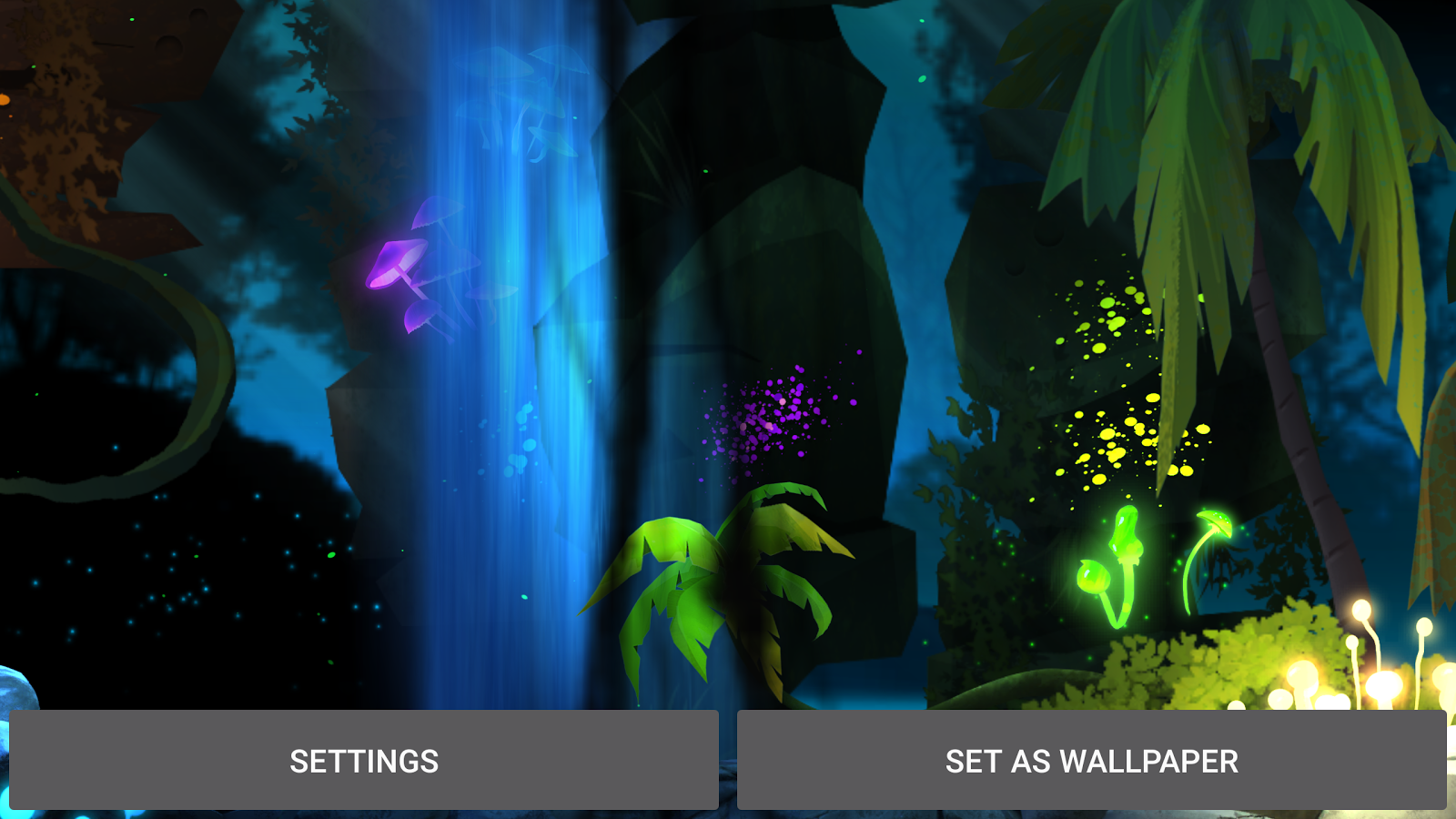 Glowing Jungle Live Wallpaper Screenshot 12