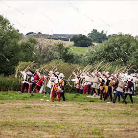 A Volley Of Arrows by Zoot The-Tog - People Musicians & Entertainers ( battlefield · archer · flight · tewkesbury · battle · fight · arrow · combat · bow · volley )