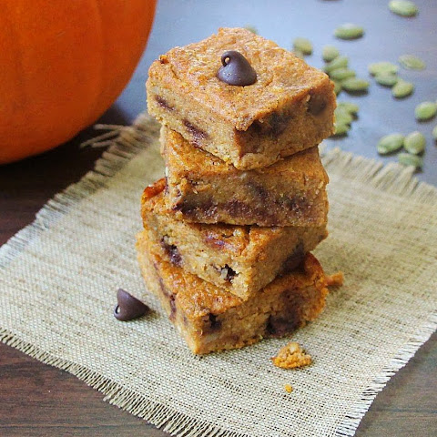 Ginger Infused Chocolate Chip Pumpkin Squares