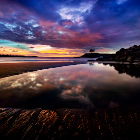 Jerudong Beach by Mohamad Sa'at Haji Mokim - Landscapes Sunsets & Sunrises ( sunset, beach )