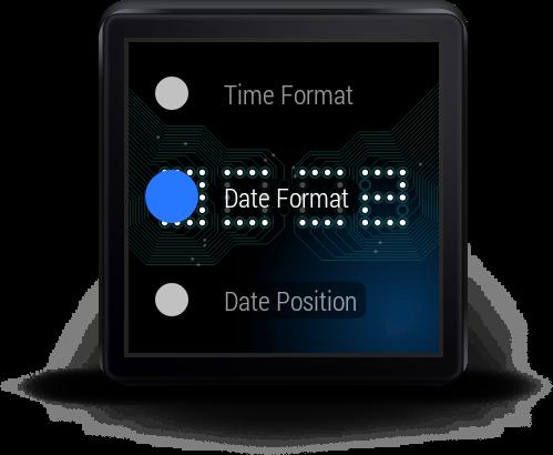 Wear Time Circuit - Watch Face - screenshot