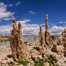 Tufa Formations on Mono Lake by Jeanine Akers - Landscapes Caves & Formations ( tufa formations, mono lake, nikond610 )