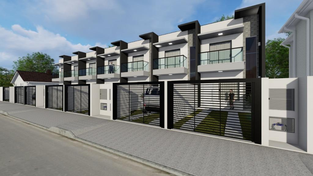 Sobrado com 2 dormitórios à venda, 60 m² por R$ 169.900 - Universitário - Tijucas/SC