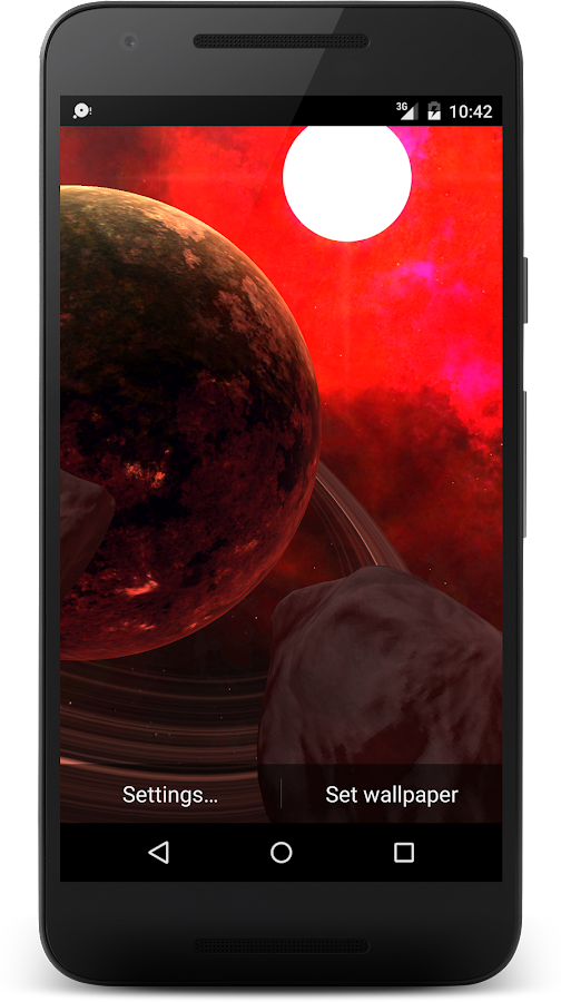 3D Space live wallpaper Screenshot 2