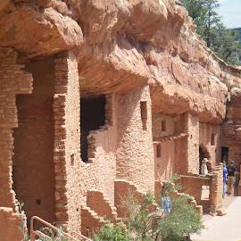 Colorado cliff dwellings by Elizabeth O - Buildings & Architecture Architectural Detail ( cliff dwellings, tourist, colorado, stone, tourism, museum )