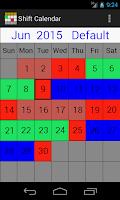 Screenshot of My Shift Calendar