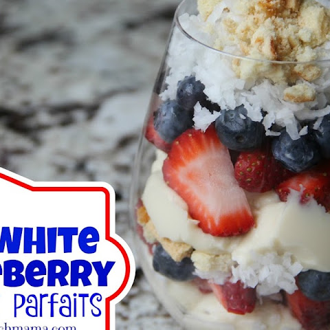 Red, White & Blueberry Coconut Parfaits