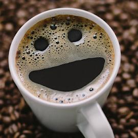 Smile Coffee by Dogukan Gedik - Food & Drink Alcohol & Drinks ( çekirdek, coffee beans, coffee, coffee cup, kahve )